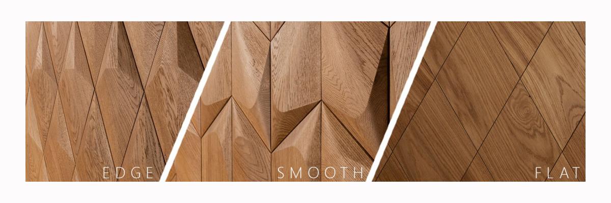 Produktpalette Form At Wood – Merkmale und Unterschiede - WELCHE UNTERSCHIEDE ZWISCHEN DER EDGE, SMOOTH UND FLAT