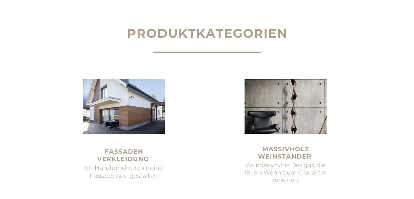 Produktkategorie Fassaden Verkleidung