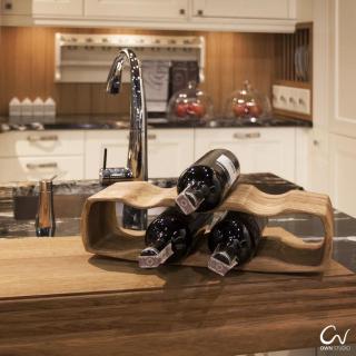 Massivholz Wein Ständer QAD Handgemacht