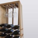 Massivholz Wein Ständer WAVE LOW Handgemacht